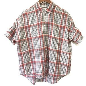 Madewell Plaid Oversized Button Up Shirt Size S